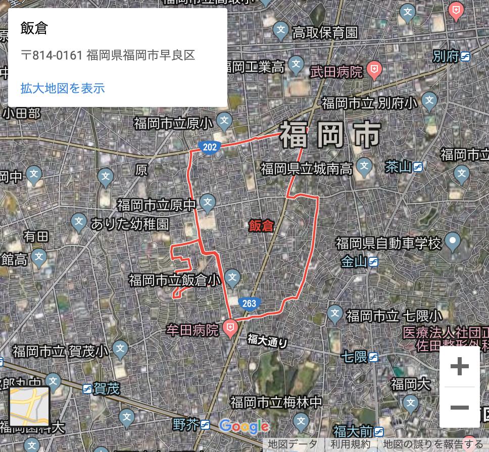 福岡市早良区飯の高齢女性ひき逃げ事件現場の場所は?