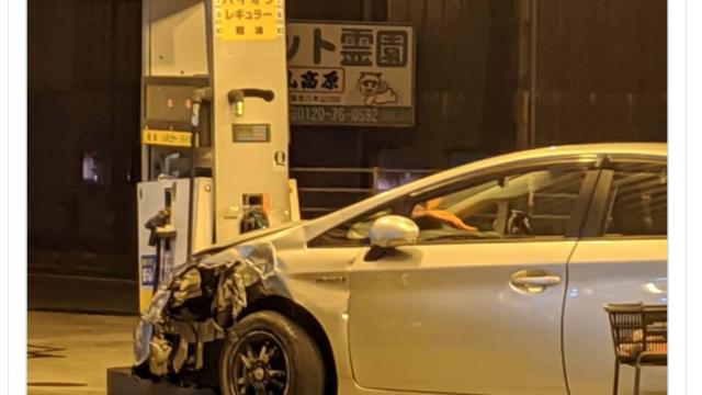 福岡県飯塚市で高齢者プリウス事故のガソリンスタンドへ衝突の原因はアクセルの踏み間違え?